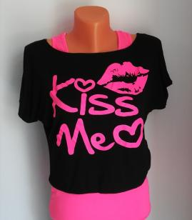 Set maieu cu tricou Kiss me 1